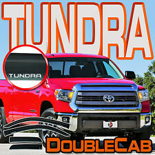 TUNDRA DOUBLE CAB 2007-2016 WINDOW SUN RAIN DEFLECTOR VENT GUARD VISOR with LOGO