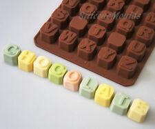 Superior Funda Alfabeto Ladrillos Letras Chocolate Candy Bakeware del silicón Molde Pastel