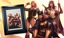 Sideshow BIRDS OF PREY FRAMED Exclusive Art Print DC Comics Batgirl Huntress #4