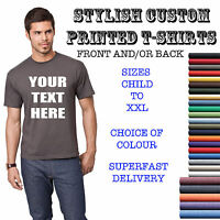 YOUR CUSTOM TEXT ON A T SHIRT - ADULT & KIDS - STAG HOLIDAY TEE PERSONALISED