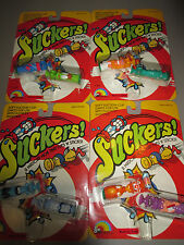 """Vintage """"SUCKERS"""" LJN Suction Characters Lot (4) New Old Stock Carded 1986"""