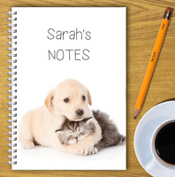 A5 & A4 PERSONALISED NOTEBOOKS, NOTE BOOK, NOTE PAD, 50 LINED OR BLANK /01