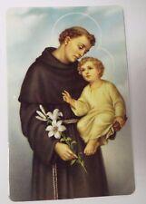 "Saint Anthony of Padua"" Unfailing Prayer"" Card, New"