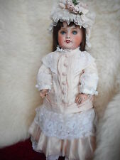 ANTIQUE SFBJ BISQUE HEAD BEBE DOLL,HEAD FRANCE UNIS, 301 ERT ON JUMEAU BODY 18""