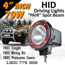 HID Xenon Driving Lights - Pair 4 Inch 70w PRO Spot Beam 4x4 4wd Off Road 12v24v