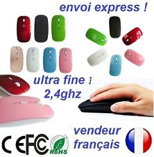 ultra fine souris sans fil Mince 2.4 GHz Optique usb PC Portable Mac iOs Android