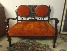 Settee Antique Gingerbread Trim.C12pics4size/etc.ships Greyhound $119.MAKE OFFER