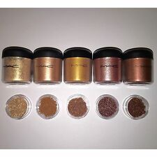 RARE Discontinued MAC Pigments Sample Set of 5! Sunpepper, Dazzleray, Copperbeam