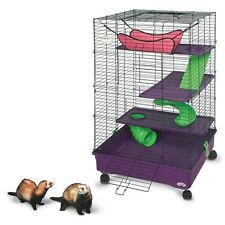 Ferret Cage Pet Guinea Small Chinchilla Comfort Shelves Safety Ramps Hammock