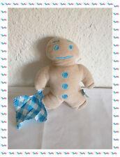 A - Doudou Peluche Monsieur Biscuit avec son Mouchoir à Carreaux Bonne Maman