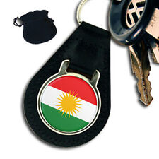 KURDISTAN KURDISH FLAG LEATHER KEYRING / KEYFOB