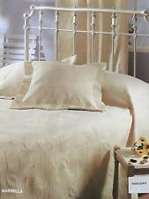 Blanket Bedspread Throw Jacquard Cotton - Polyester Single size 160x240 Ecru