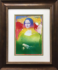 "Peter Max ""Mona Lisa I"" NEWLY CUSTOM FRAMED Print Art POP Leonardo da Vinci"