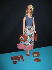 Vintage BUSY BARBIE Doll #3311 Blonde Hair Accessories Free Shipping USA