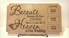 Wedding In Memory Of Someone In Heaven Table Sign Any Names Remembrance Sign