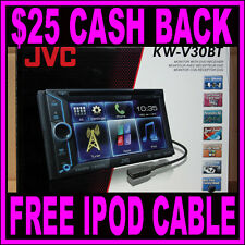 """JVC KW-V30BT Bluetooth 6.1"""" Touch Screen DVD MP3 iPhone iPod Car Player Receiver"""