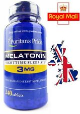 MELATONIN 3 mg x 240 Tablets - SENT FROM UK - 2ND CLASS ROYAL MAIL