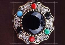 Green/Red/ Black Round  Cubic Zircon Gold Plated Lady Ring Size 7/8/9/10