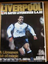 03/04/2002 Liverpool v Bayer Leverkusen [European Cup] (slight fold just off spi