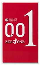 "OKAMOTO ""ZERO ONE"" 001 0.01 Polyurethane Condom 3pcs High quality Japan"