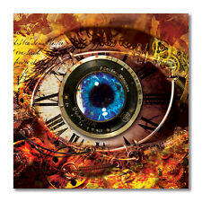 Steampunk Zombie Robot Eye Sticker -Original Art Decal apocolypse monster gothic