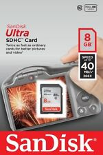 SanDisk Ultra 8gb SD Card SDHC SDXC Memory Card Class 10 40MB/s Cameras UK P&P**