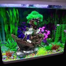 Aquarium Decoration Sailing Boat Ship Destroyer Simulate Fish Tank Cave Ornament