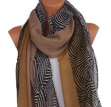 Schal Damen Damenschal Langschal Viskose Viscose braun zebra combs SS14-3104