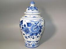 Delfter Keramik Baluster-Vase Deckelvase Delft blau De Porceleyne Fles Fayence