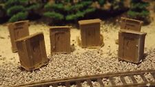 N-Scale  6 Unfinished Old Style Camp Site Outhouse's 1:160
