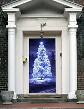 New Year Front Door Cover Entry Doors Banner Christmas Decor Outside House ON13