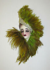 Unique Creations Small Art Deco Lady Face Mask Wall Hanging Decor