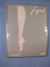 "Fogal Style 156 Orage ""Crazy Raindrops"" Pantyhose Size Medium in Softpink"