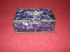 Stained Glass Trinket Box Purple Glass with Dragon Made in Australia