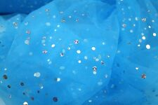 Sparkly Sequin Dress Net Tulle Tutu Wedding Decoration Fabric some with creases