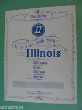 By thy Rivers Gently Flowing Illinois Official State Song 1966 Gov Otto Kerner