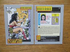 1991 IMPEL DC COSMIC MODERN AGE WONDER WOMAN CARD SIGNED JILL THOMPSON, WITH POA