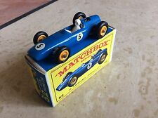 MATCHBOX REGULAR WHEEL No 52b BRM RACING CAR, BLUE, E BOX