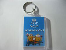 Keep Calm And Love Minions Keyring  Ideal For: Book Bags Tags, Name Tags