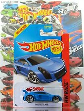Hot Wheels 2014 #160 Mastretta MXR BLUE,1stCOLOR,NEW CASTING,10SP,BLACK BASE,US