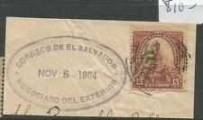 El Salvador SC 1904 UPU 13c On Piece VFU (9cqr)