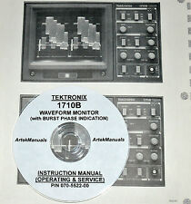 Tektronix 1710B Waveform Monitor Operating & Service Manual