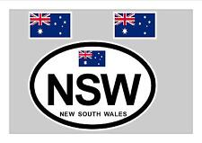 NSW AUSTRALIA FLAG WINDOW / BUMPER STICKER FOR CAR BIKE CARAVAN TRAILER