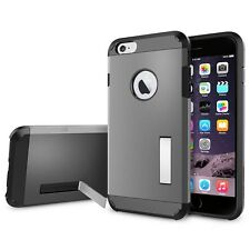 Tough Armor Hybrid Case Cover With Kickstand For iPhone 6/6S 4.7 inch (Gunmetal)