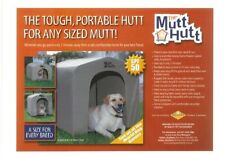 The Mutt Hutt - Portable Raised Dog House Metal Frame Soft Sided Kennel - Small