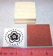 Stampin Up Big Flowers Stamp Single Blossom within a Blossom in a circle