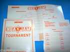 NBA JAM By MIDWAY 1992 VIDEO GAME TOURNAMENT INSTRUCTIONS SHEETS & PAPERWORK LOT