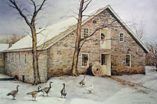 BIRD ART PRINT - The Daily Beggars, 1985 by Dan Campanelli 31x23 Country Poster