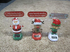 Solar Dancing Elf, Santa and Reindeer  set of 3 new
