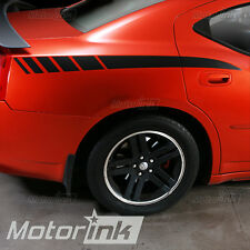 2006-2010 Dodge Charger Rear Quarter Panel Side Stripes Decal kit 07 08 09 10